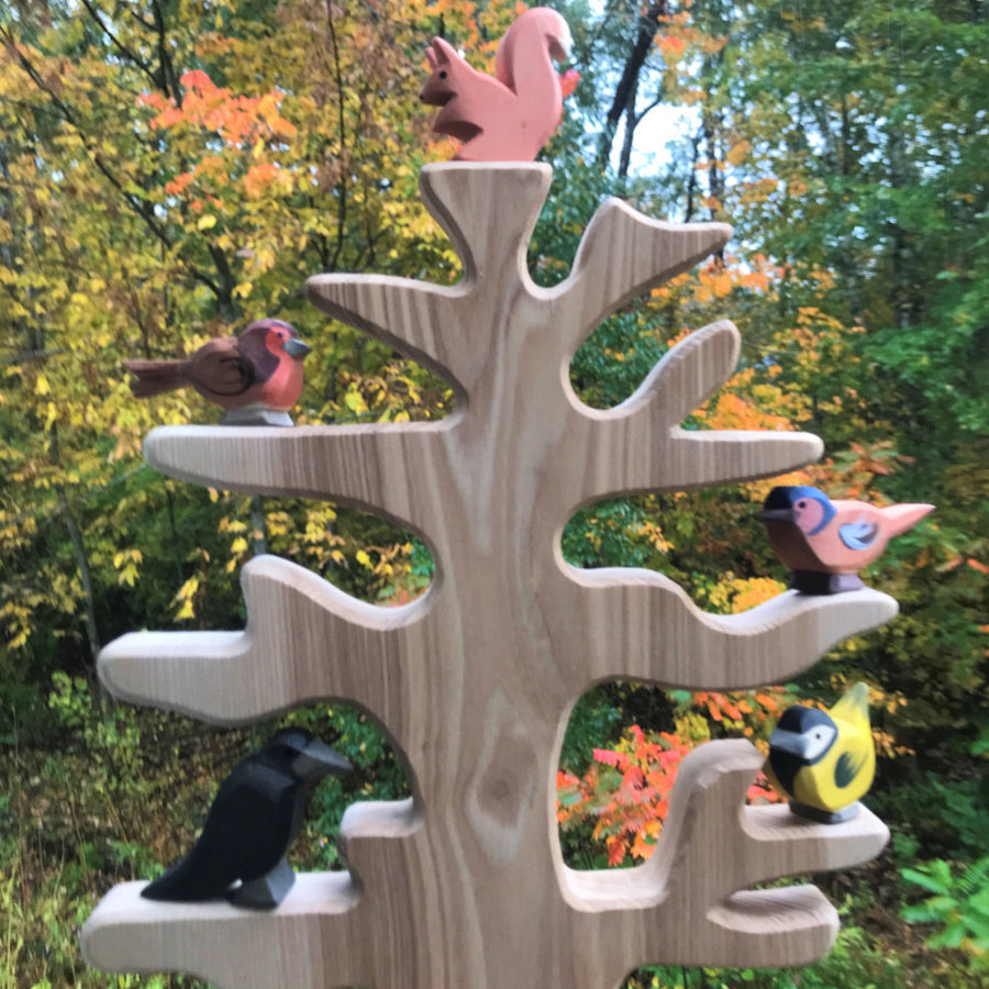 Ostheimer Wooden Bird Tree on Display - Bella Luna Toys