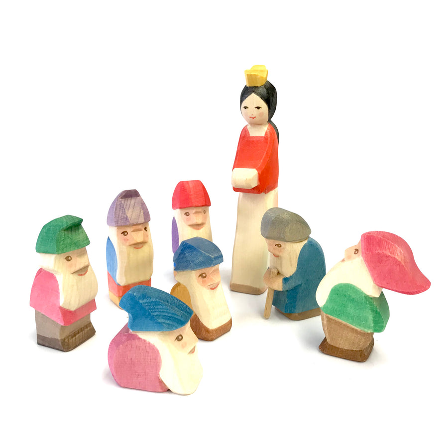 Ostheimer Snow White and New Seven Dwarves - wooden toys - Bella Luna Toys