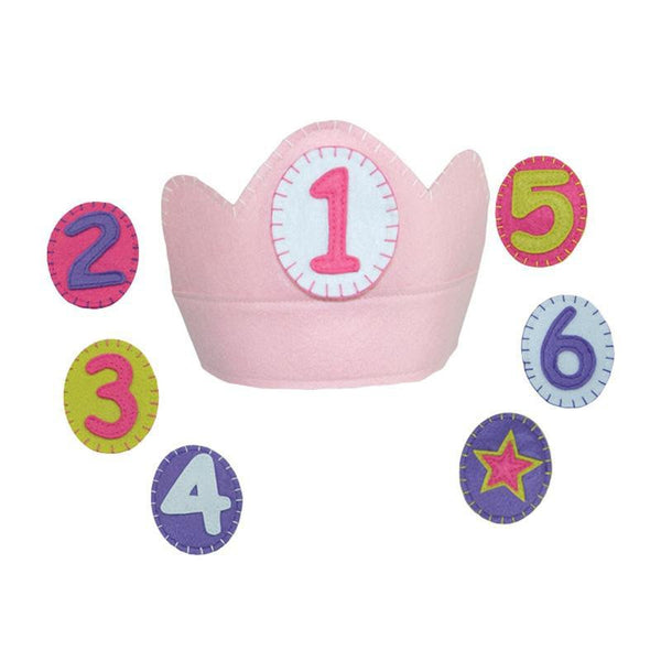 Felt Birthday Crown with Removable Numbers