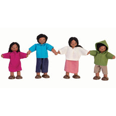 Plan Toys Dollhouse Family Dolls - Hispanic