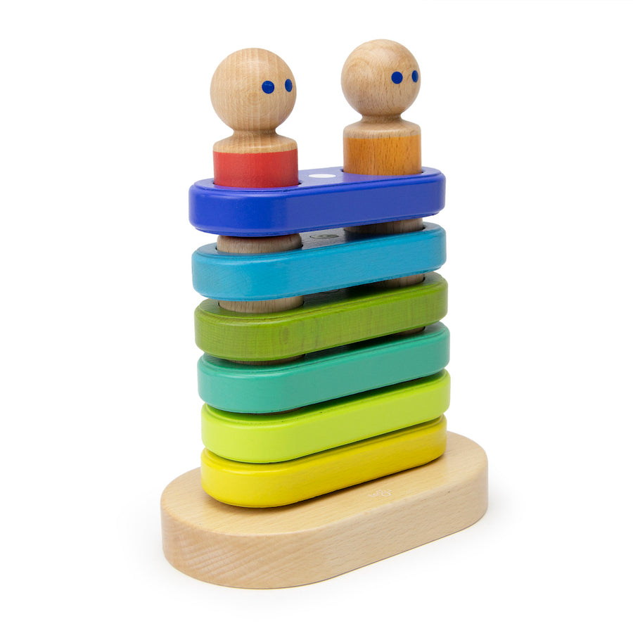 Magnetic Floating Stacking Toy Side - Tegu - Bella Luna Toys