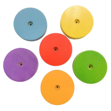 Sawdust & Rainbows Climbing Discs Accessory for Wooden Pikler Slide | Bella Luna Toys