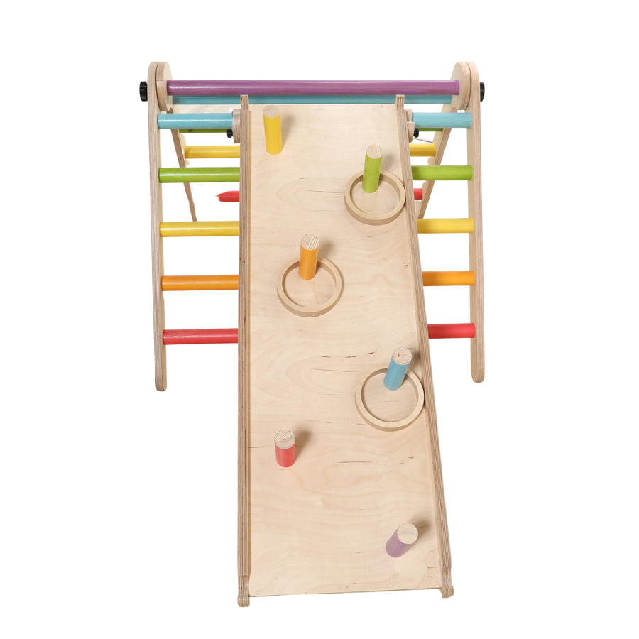 Sawdust and Rainbows - Ring Toss Wooden Slide Accessory - Bella Luna Toys