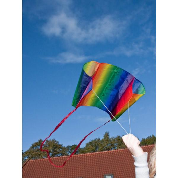 Kids Rainbow Pocket Kite Flying - Sleddy HQ - Bella Luna Toys