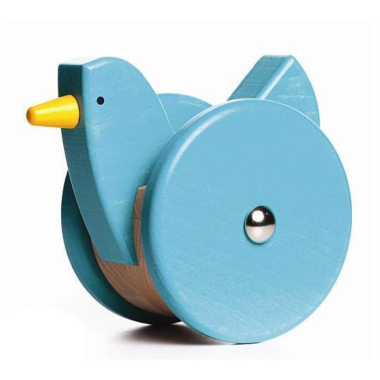 European Toy, Wooden Push Toy, Toy Chicken