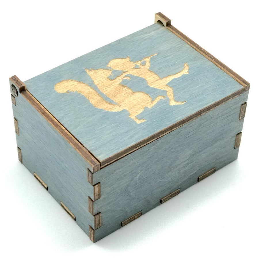 Wooden Tooth Fairy Box - Blue with Squirrel - Bella Luna Toys