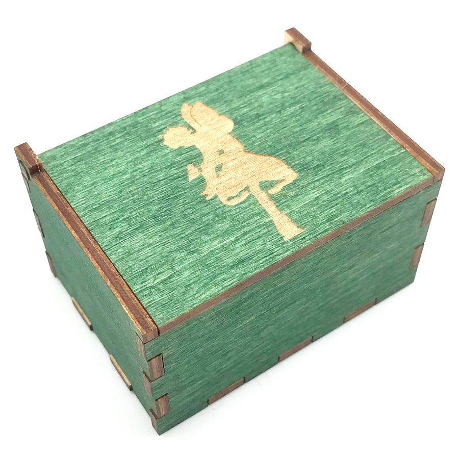 Wooden Tooth Fairy Keepsake Box - Green with Toadstool - Bella Luna Toys