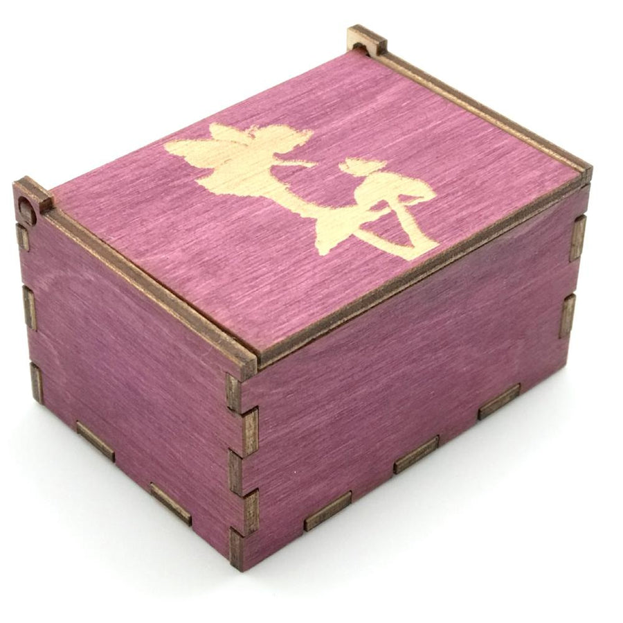 Wooden Tooth Fairy Keepsake Box - Pink with Toadstool - Bella Luna Toys