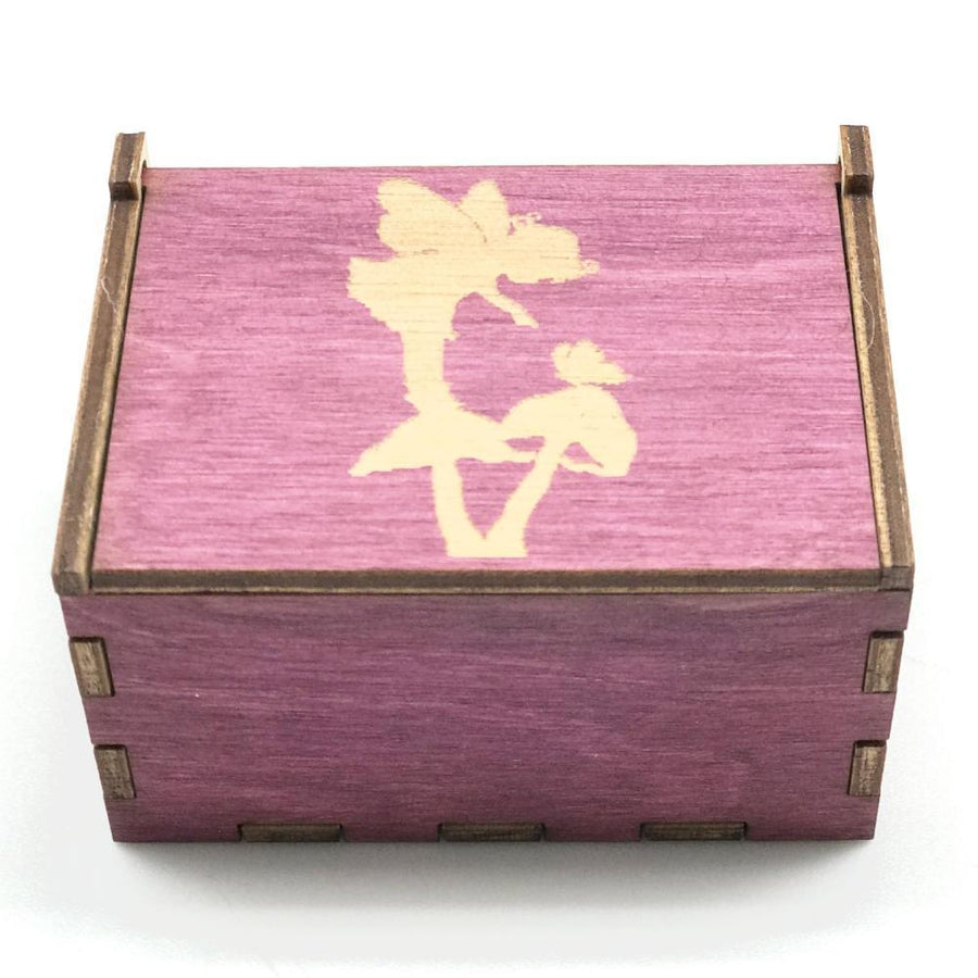 Wooden Tooth Fairy Box - Pink with Mushroom - Bella Luna Toys