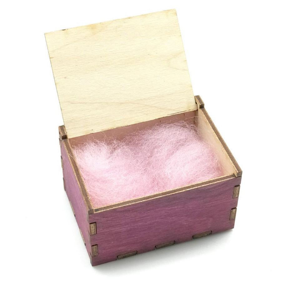 Wooden Tooth Fairy Keepsake Box - Pink with Fleece - Bella Luna Toys