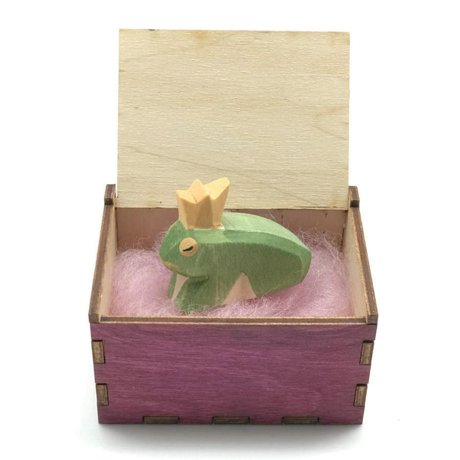 Wooden Tooth Fairy Keepsake Box - Pink Open with Gift - Bella Luna Toys