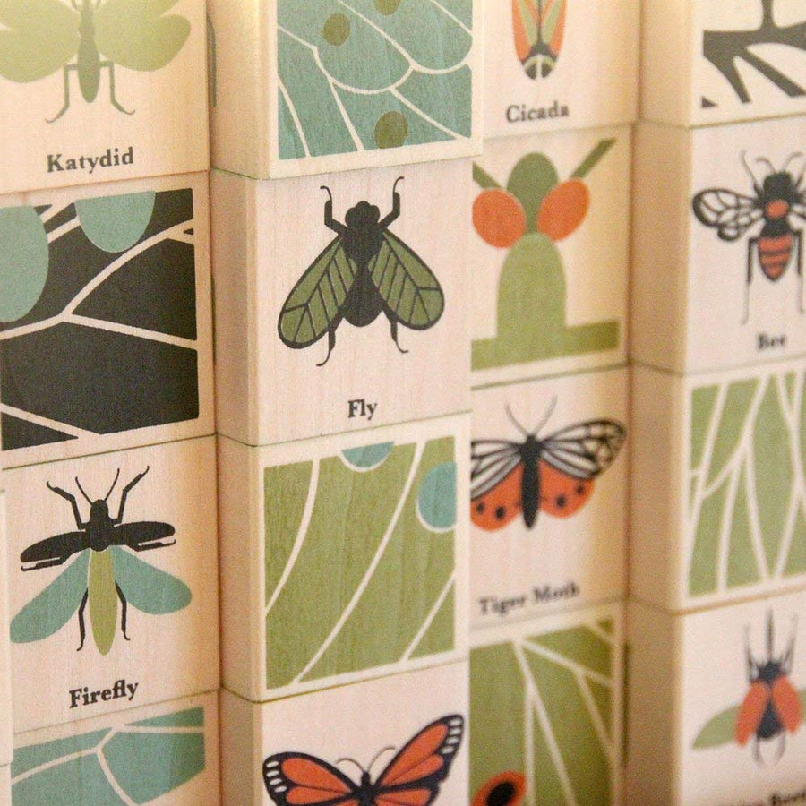 Uncle Goose -Wooden Insect Alphabet Blocks - Bella Luna Toys - Detail