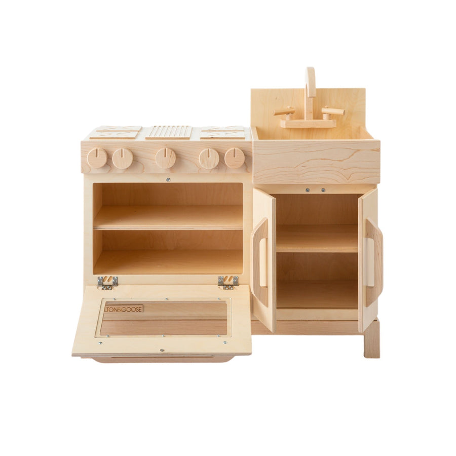 Milton and Goose Essential Wooden Play Kitchen - Natural - Bella Luna Toys