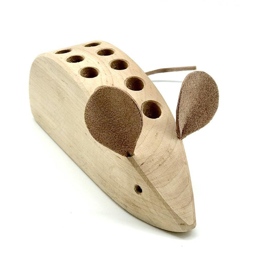 Wooden Mouse Pencil Holder - Bella Luna Toys