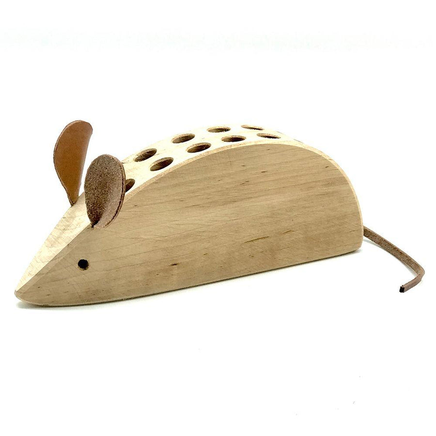 Mouse Wooden Pencil Holder - Bella Luna Toys