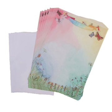Kids Stationery Set - Waldorf Family - Spring Notepaper - Bella Luna Toys