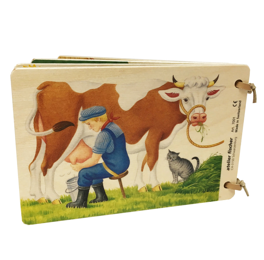 Wooden Picture Book - On the Farm - Switzerland - Bella Luna Toys