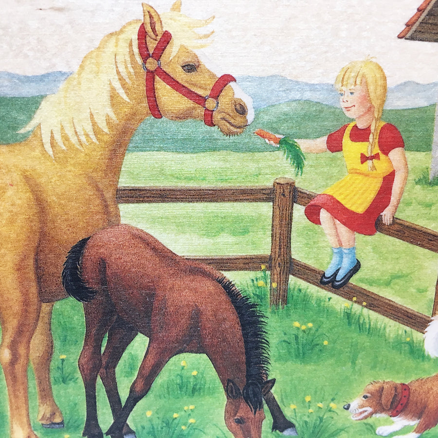 Wooden Picture Book - On the Farm - Switzerland - Detail