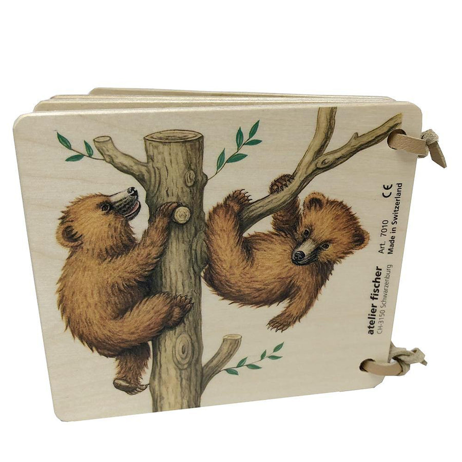 Wooden Board Picture Book - Bears Back Cover - Bella Luna Toys