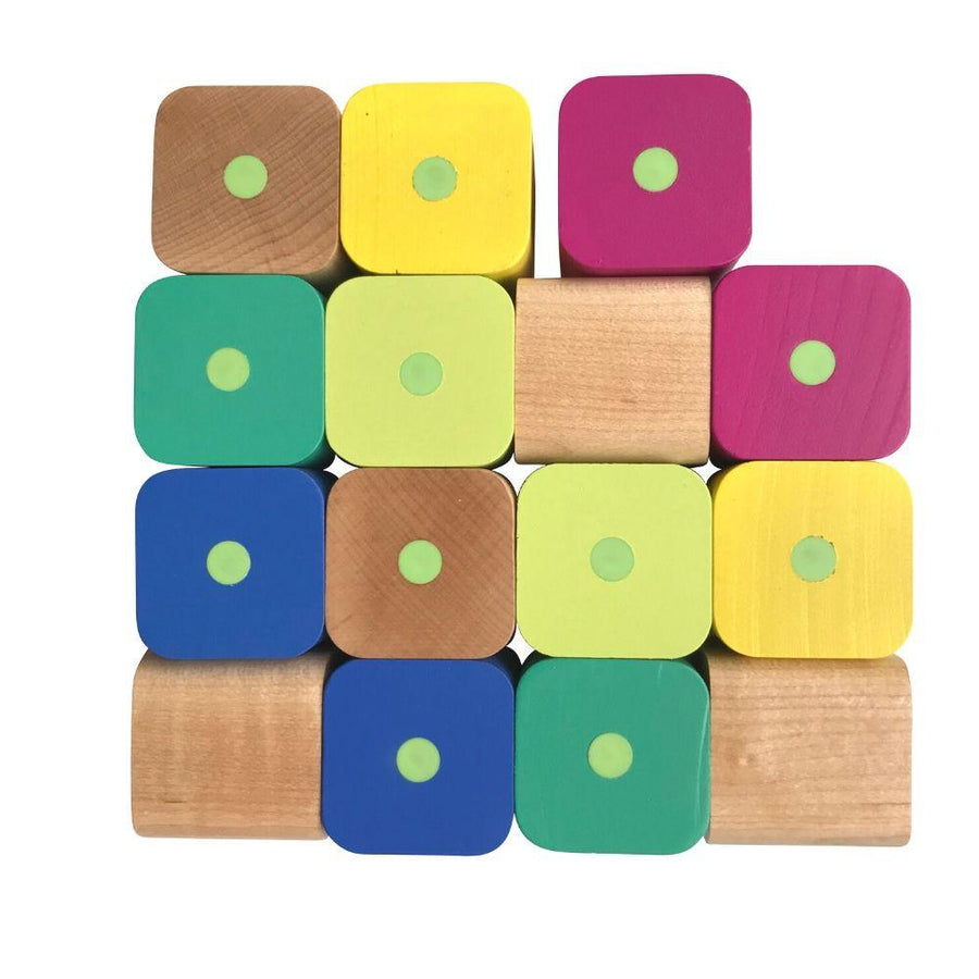 Tegu Baby's First Wooden Magnetic Blocks - 15 Piece Set - Bella Luna Toys
