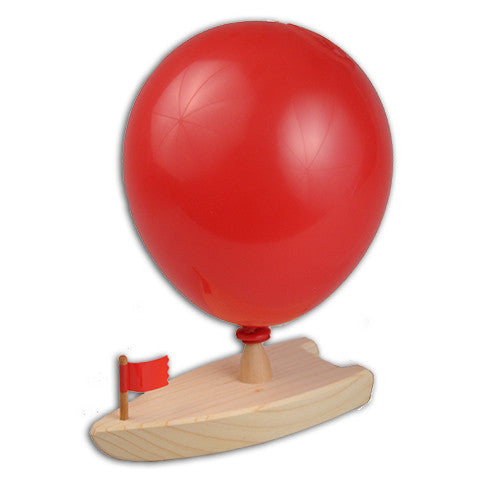 Wooden Toy Balloon-Powered Boat
