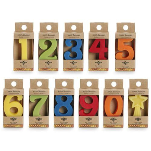 Beeswax Number Birthday Candles