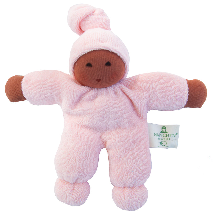 Bella Baby Organic Terry Waldorf Doll - Pink/Cocoa