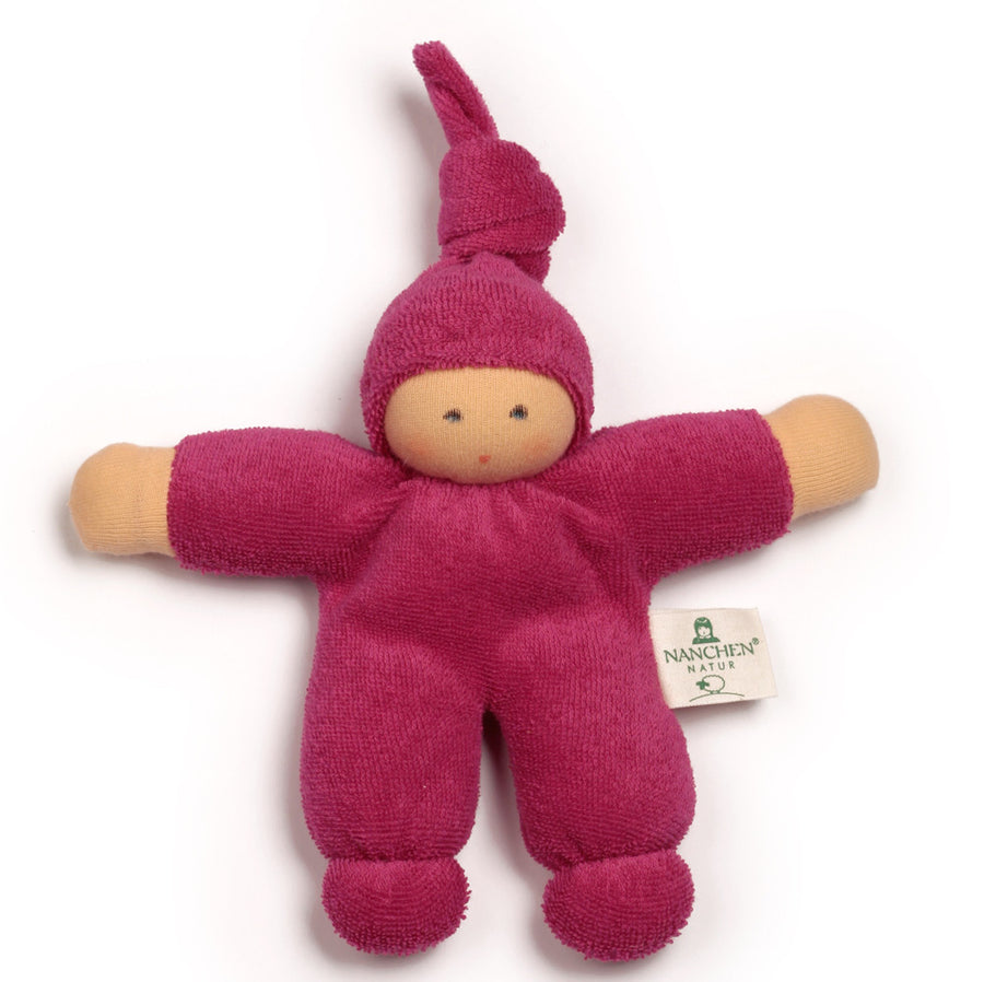 Bella Baby Organic Terry Waldorf Doll - Berry