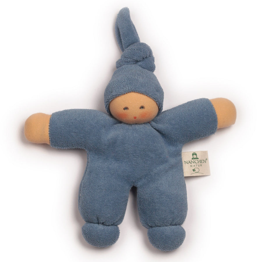 Bella Baby Organic Terry Waldorf Doll - Dark Blue