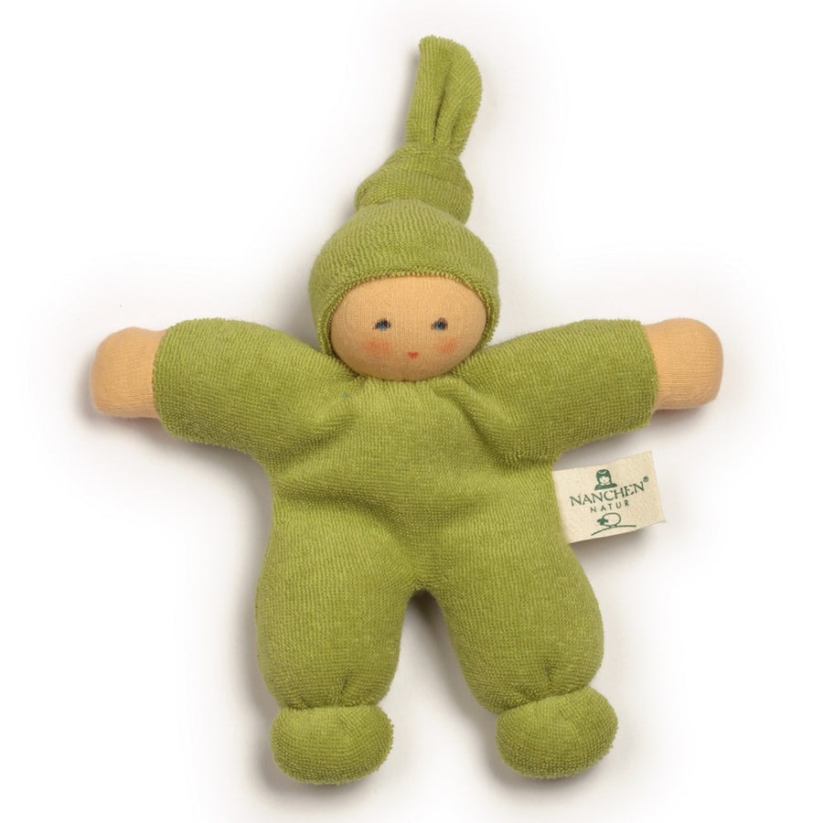 Bella Baby Organic Terry Waldorf Doll - Green