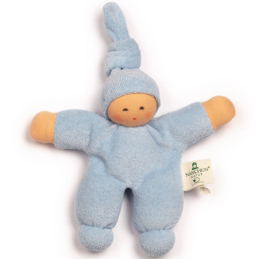 Bella Baby Organic Terry Waldorf Doll - Light Blue