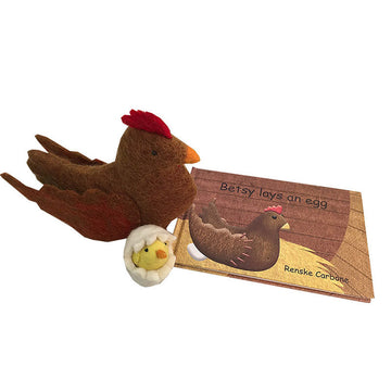 Colours of Australia - Papoose - Betsy Lays an Egg Book & Toy - Bella Luna Toys
