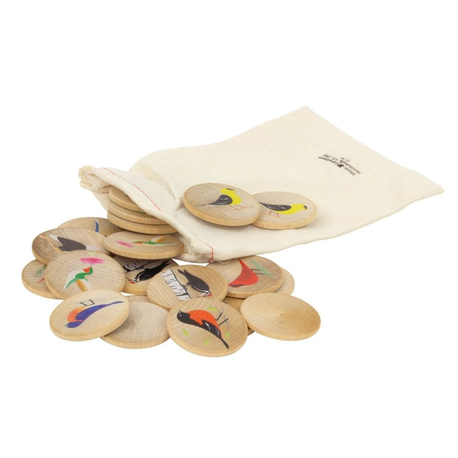 Maple Landmark Bird Memory Tiles in Bag - Bella Luna Toys