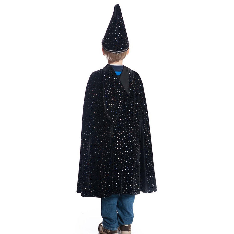 Boys Wizard Halloween Costume - Black Velvet Laser Dots - Bella Luna Toys