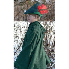 Kids Boys Robin Hood Costume Cape Hat Green | Bella Luna Toys