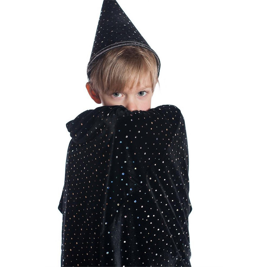Wizard Halloween Costume - Boys Black Velvet - Bella Luna Toys