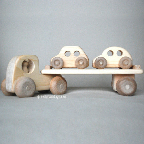 Wooden Toy Car Carrier Truck