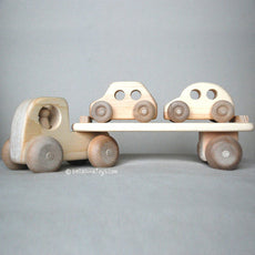 Wooden Toy Truck, Car Carrier Toy