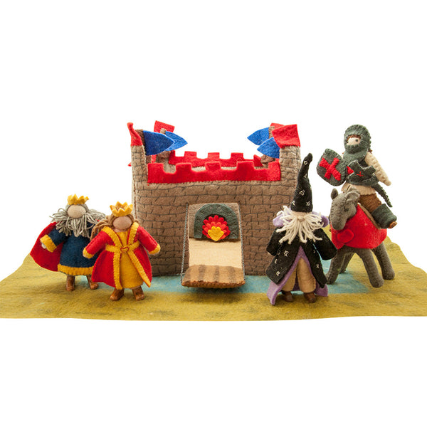 Felted Castle Waldorf Puppet Play Set, 10 Pc