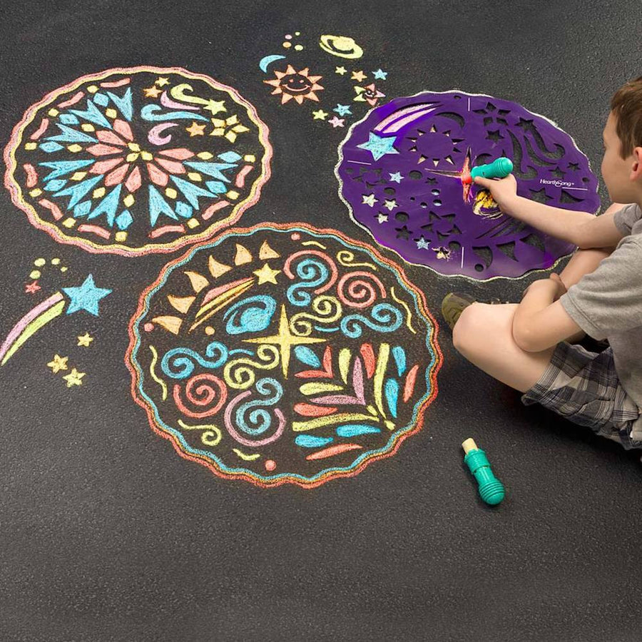 Hearthsong Chalk Mandala Chalkscapes - Stars & Geometry