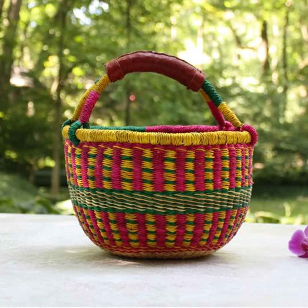 Child's Small Bolga Market Basket (colors vary)
