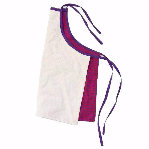 Children's Apron | Red and Purple Gingham | Reverse Side