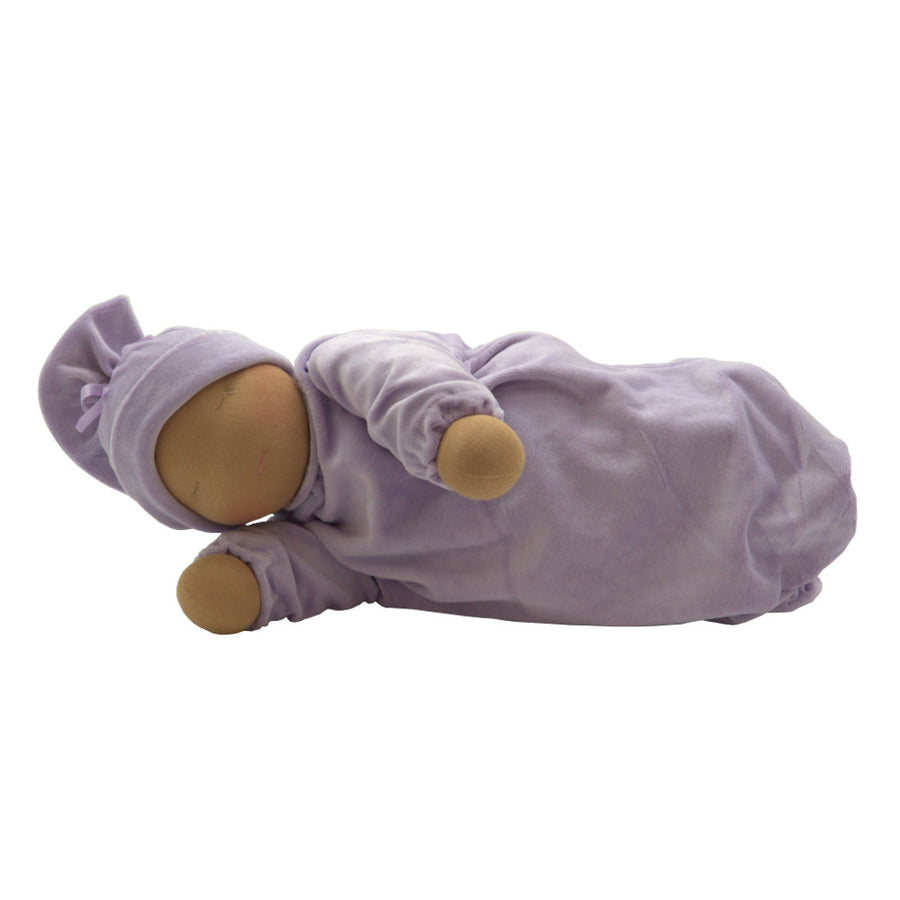 Heavy Baby Waldorf Doll - Cocoa/Lavender