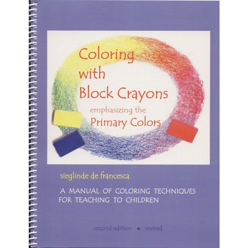 coloring with block crayons book - Primary Colors Book