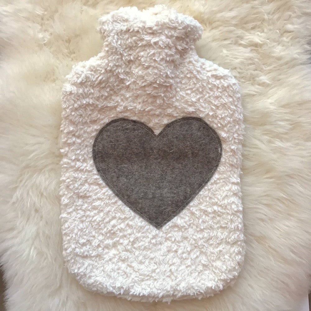 Hot Water Bottle with Organic Cotton Cover - Germany