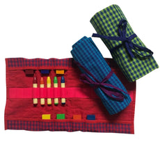 Crayon Roll - All Colors - Gingham - Bella Luna Toys