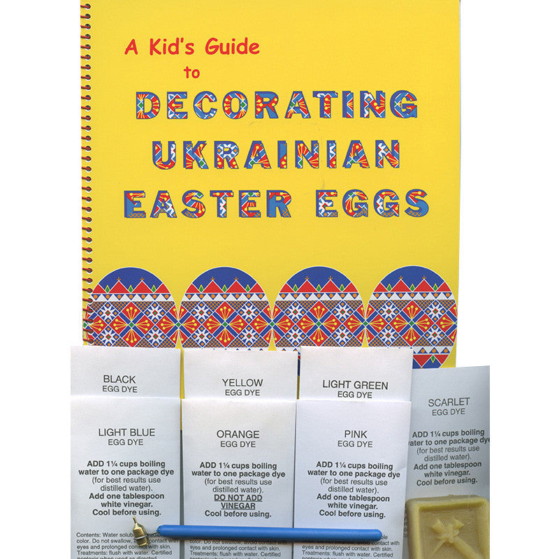 A Kid's Guide to Decorating Ukrainian Easter Eggs Kit
