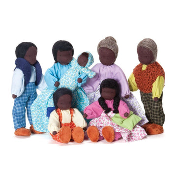 Evi Dollhouse Family - Dark Skin - Bella Luna Toys