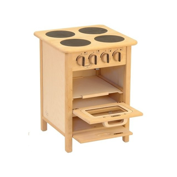 Drewart Euro Cooker | Wooden Toy Play Kitchen | Open Broiler | Bella Luna Toys