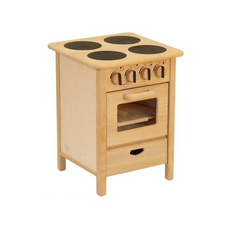 Drewart Euro Cooker | Wooden Toy Play Kitchen | Oven Stove Broiler | Bella Luna Toys